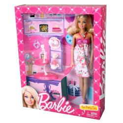 mattel x3227 barbie puppe tea party fun set mit zubeh r. Black Bedroom Furniture Sets. Home Design Ideas