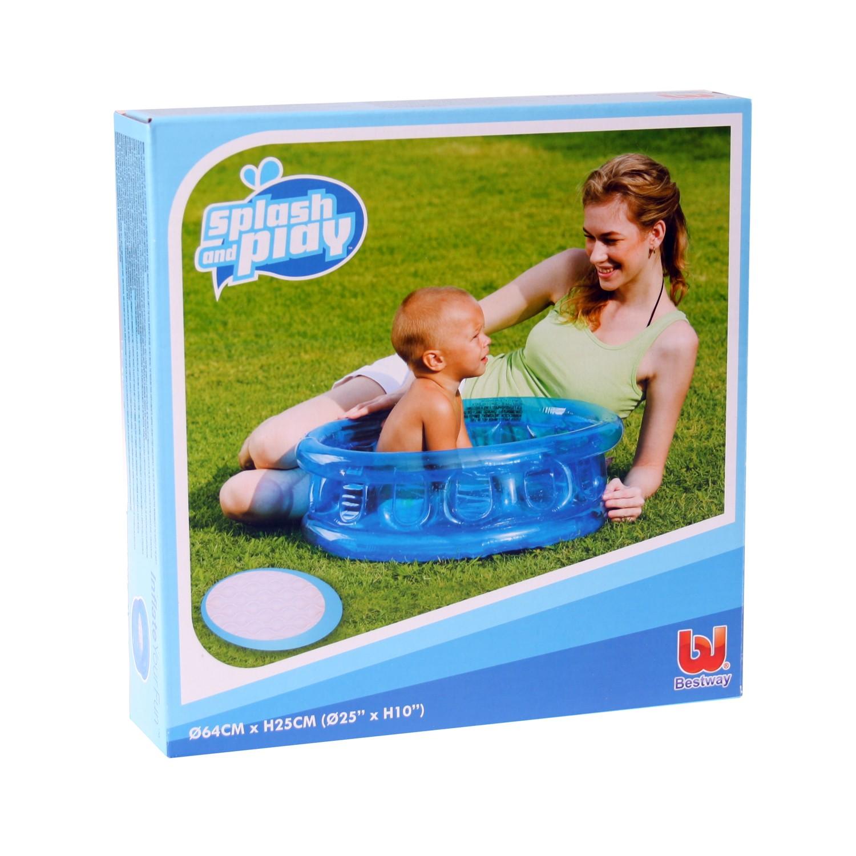 bestway 51112 kinder planschbecken 64cm mini pool blau ebay. Black Bedroom Furniture Sets. Home Design Ideas
