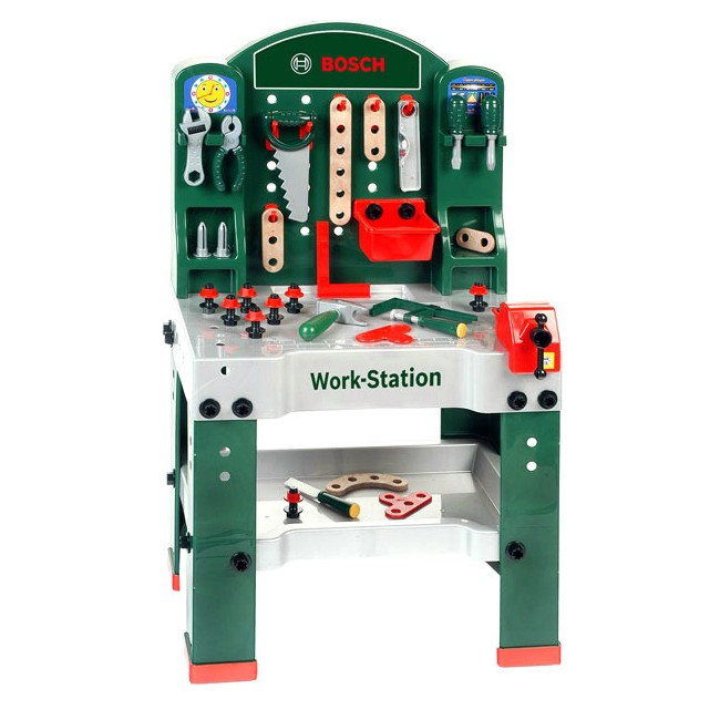 bosch workstation werkbank 8580 werkzeug arbeitsplatte schraubstock theo klein ebay. Black Bedroom Furniture Sets. Home Design Ideas