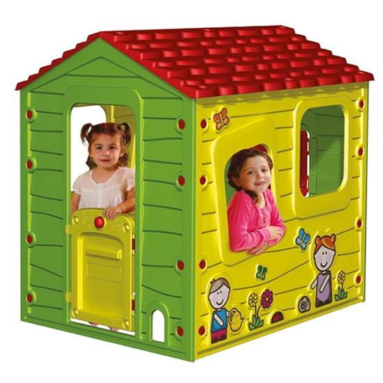 starplast spielhaus kinderhaus farm bunt gartenhaus f r kinder ebay. Black Bedroom Furniture Sets. Home Design Ideas