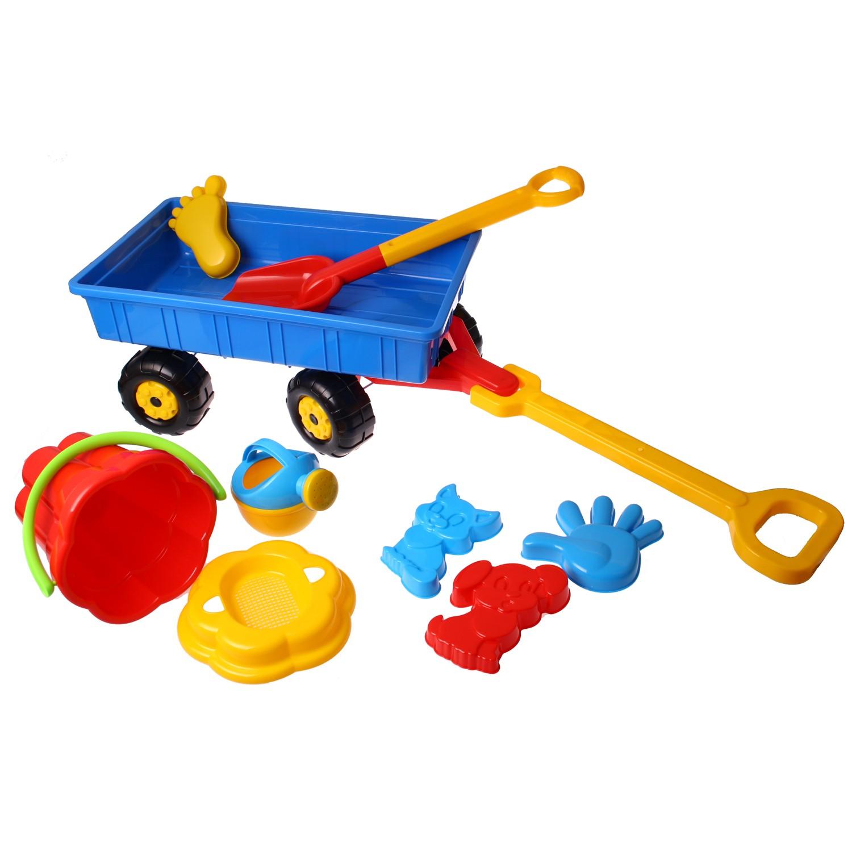 toy company 36384 sandkasten wagen mit eimergarnitur eimer schaufel f rmchen ebay. Black Bedroom Furniture Sets. Home Design Ideas