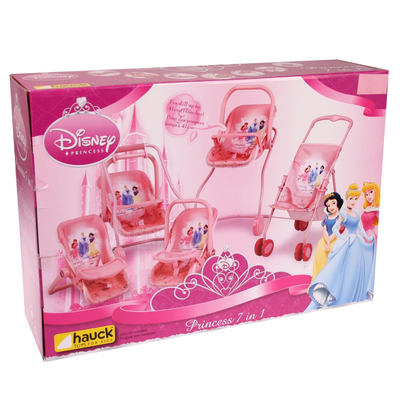 hauck disney princess puppenwagen set 5in1 babyschale hochstuhl wippe schaukel ebay. Black Bedroom Furniture Sets. Home Design Ideas
