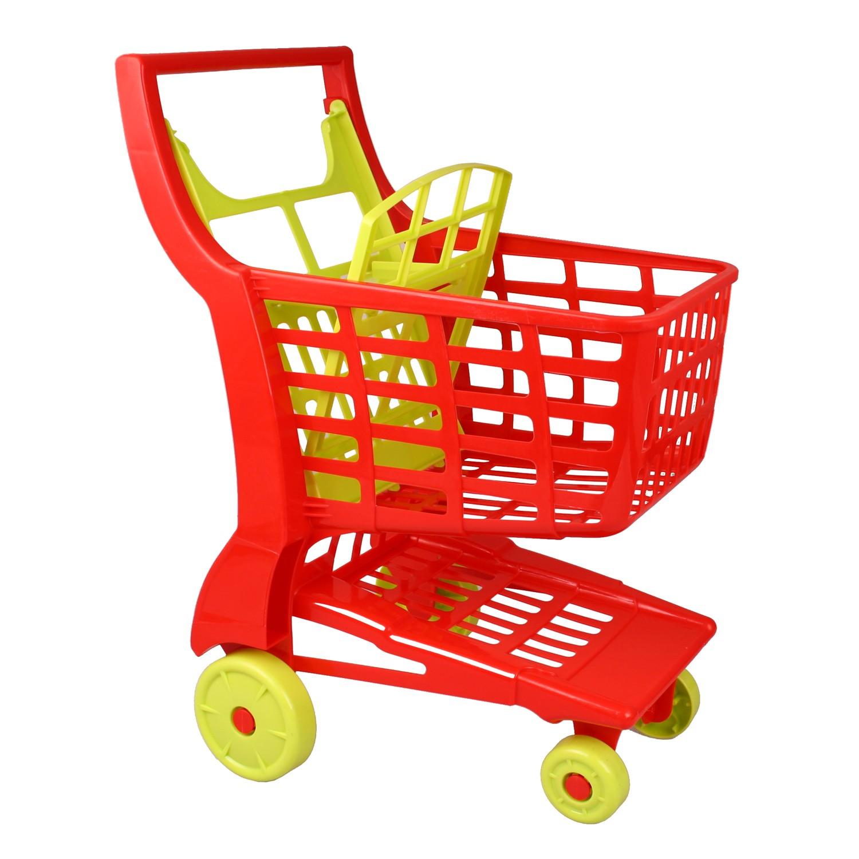 androni 354 kinder einkaufswagen einkaufskorb zu kaufladen rot ebay. Black Bedroom Furniture Sets. Home Design Ideas
