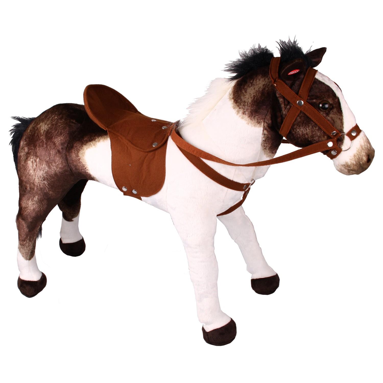 happy peole 9027 spielpferd pinto kinder reitpferd pl schpferd pferd bis 100kg ebay. Black Bedroom Furniture Sets. Home Design Ideas