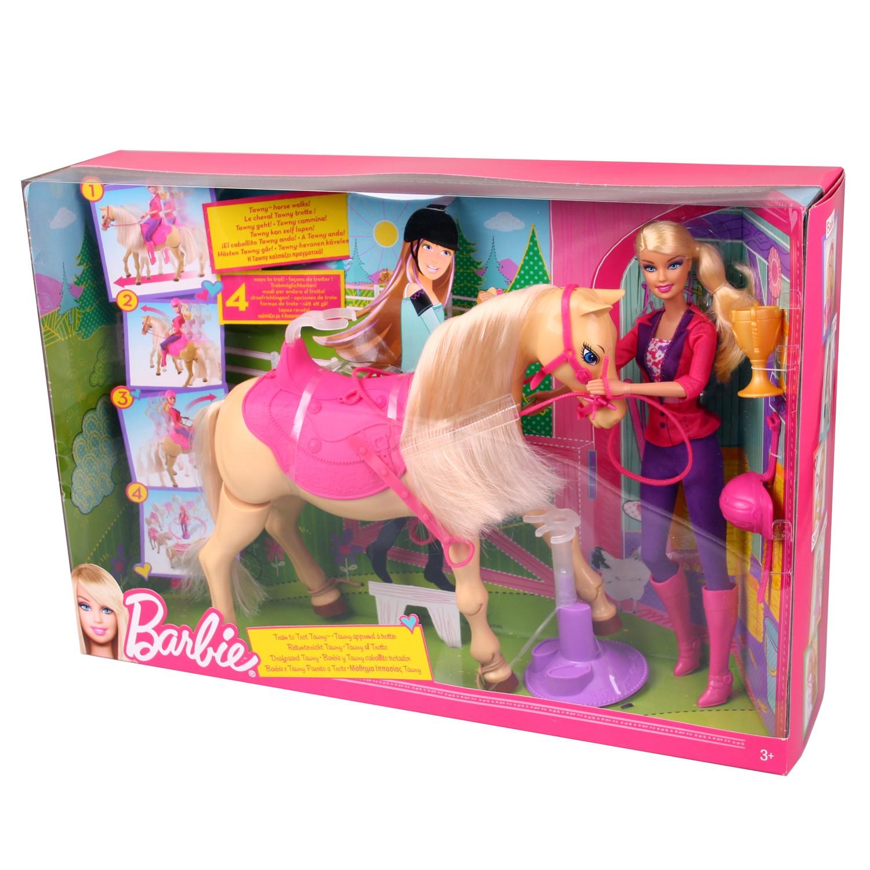 mattel x2630 barbie reitunterricht pferd tawny mit puppe und zubeh r ebay. Black Bedroom Furniture Sets. Home Design Ideas