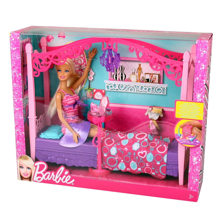 Mattel x7941 barbie puppe mit schlafzimmer m beln for Versand von mobeln